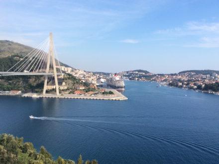 paysage croatie bleu voyage