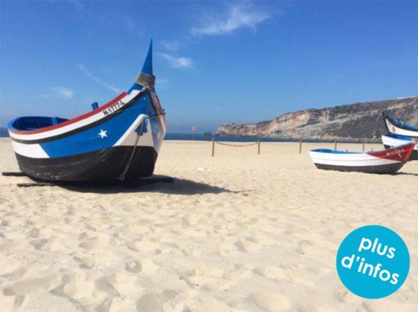 plage portugal bleu voyage