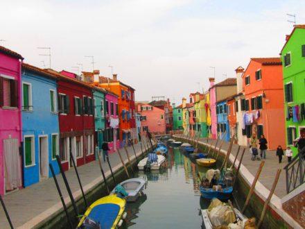 italie Bleu voyage murano burano couleur